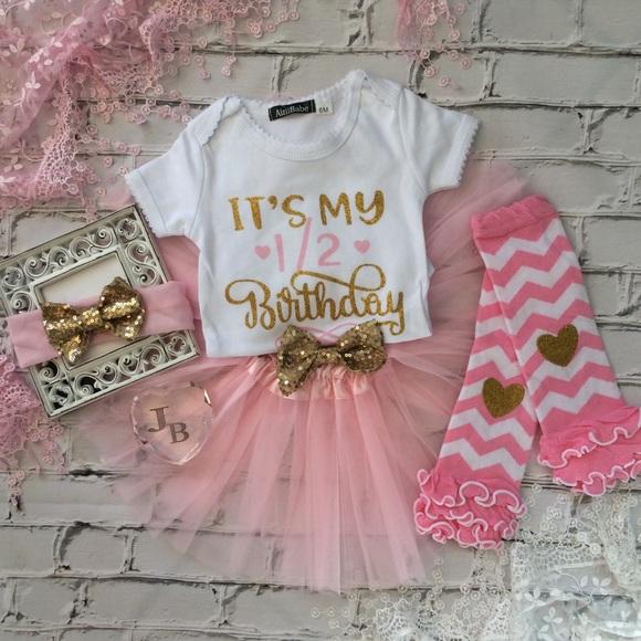 b22c5db7e Dresses | Boutique Baby Girl 12 Birthday Tutu Outfit | Poshmark